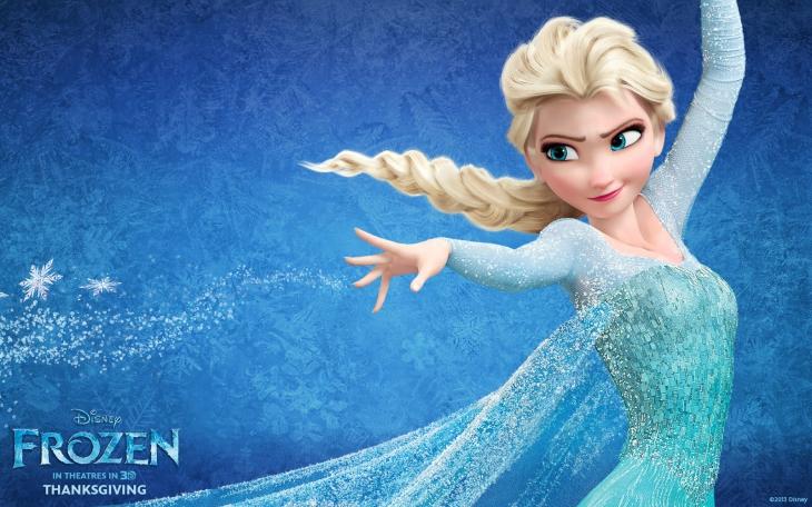 Elsa la reine des neiges fond