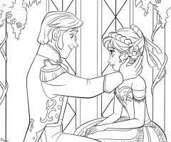 Coloriage Anna et Hans