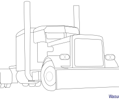 Coloriage camion americain