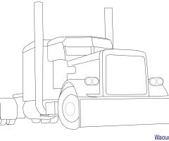 Coloriage Camion Americain Gratuit.Coloriage Camion A Imprimer