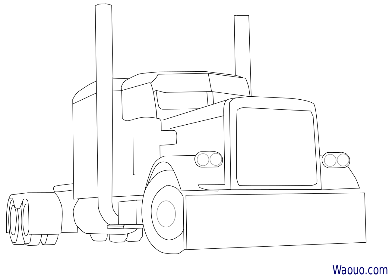 Coloriage camion am ricain imprimer et colorier - Camion americain dessin ...