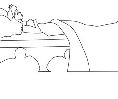 Coloriage princesse endormie