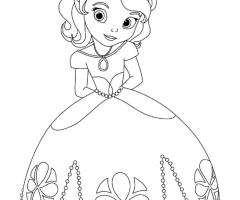 Coloriage princesse Sofia