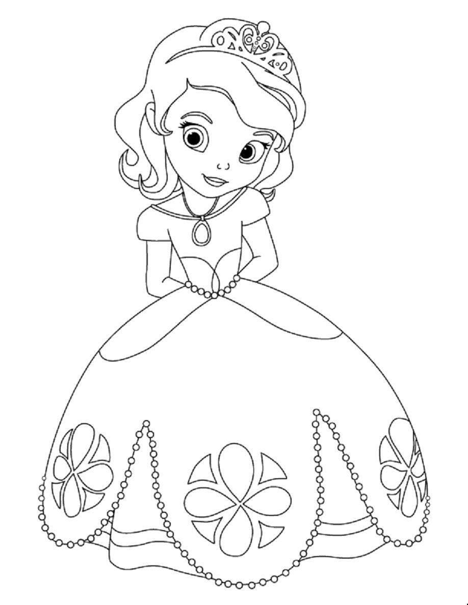 Coloriage Princesse Sofia Gratuit A Imprimer.Coloriage Princesse Sofia Disney A Imprimer Et Colorier