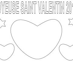 Coloriage Saint Valentin 2014