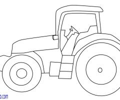 Coloriage tracteur fruitier