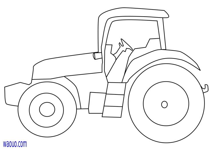 Coloriage petit tracteur gratuit imprimer - Dessin a imprimer de tracteur ...