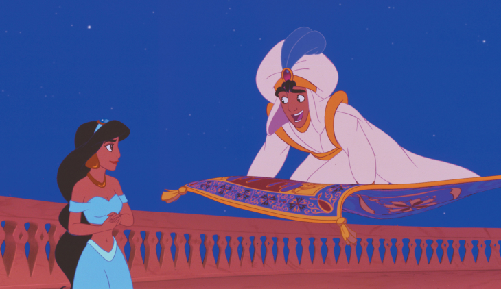 Aladdin et Jasmine tapis volant