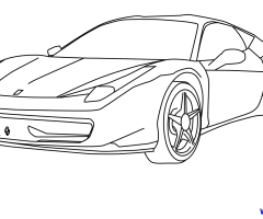 Coloriage Ferrari