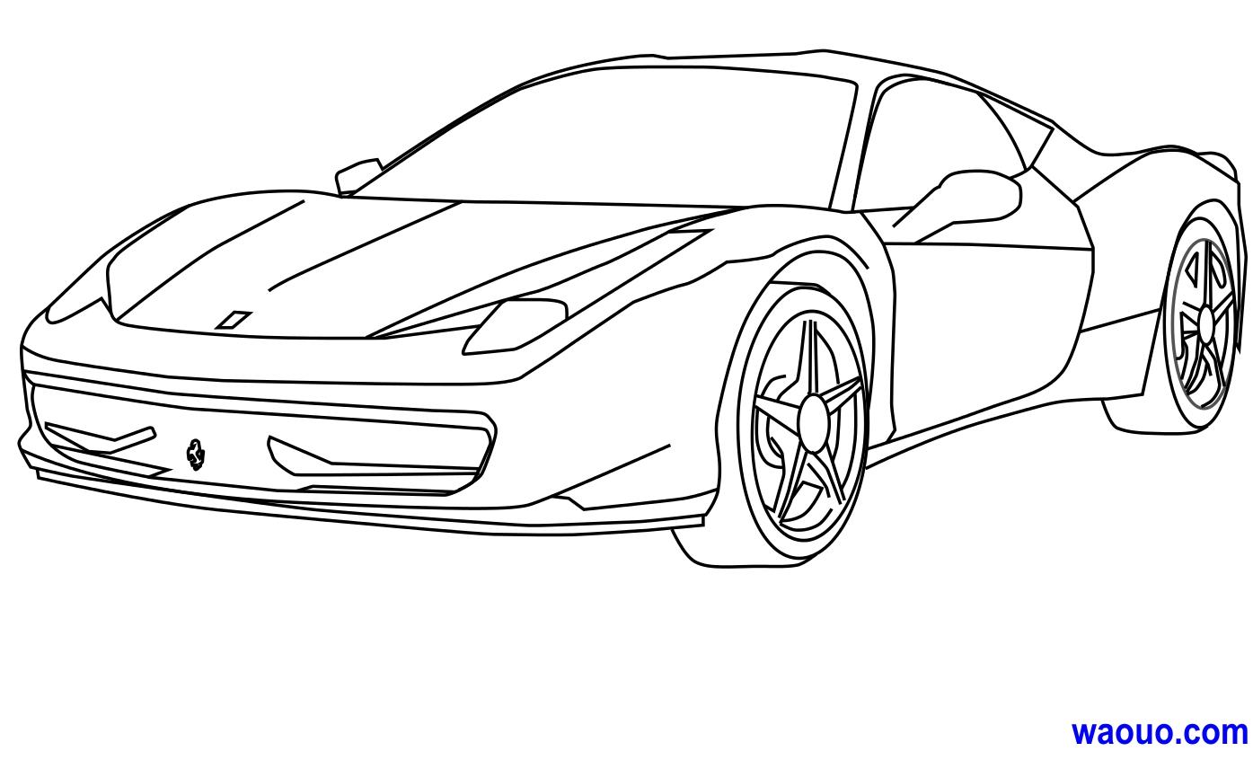 Coloriage Ferrari gratuit à imprimer