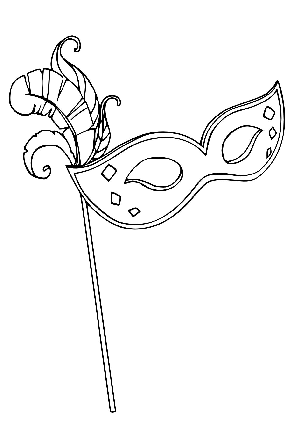 Coloriage masque v nitien imprimer et colorier - Dessin de masque de carnaval ...