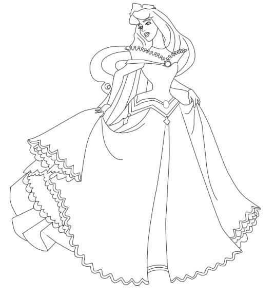 Princesse coloriage aurore imprimer et colorier - Princesse a colorier et imprimer ...