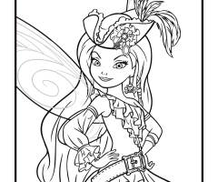 Coloriage fée Ondine pirate