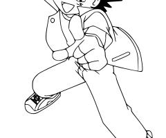 Coloriage Sacha Pokemon