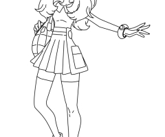 Coloriage Serena Pokemon XY