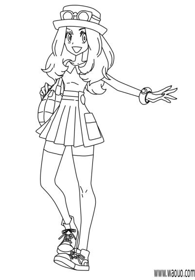 Coloriage Serena Pokemon XY