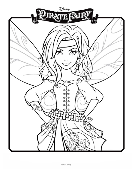 Coloriage Zarina fée pirate