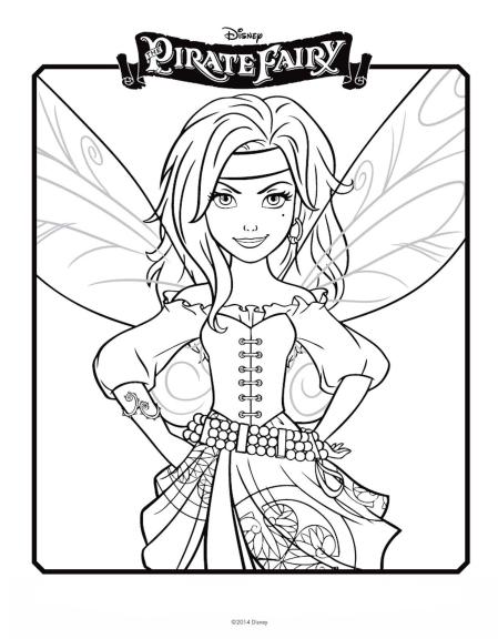 Coloriage Zarina fée pirate