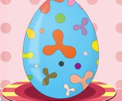 œuf de pâques coloré