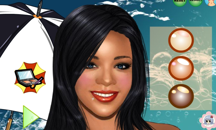 Rihanna est maquillée