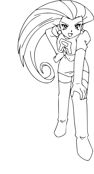 Coloriage Jessie Team Rocket