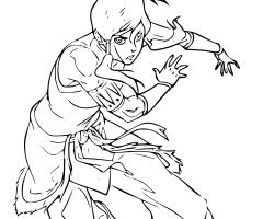 Coloriage la legende de Korra