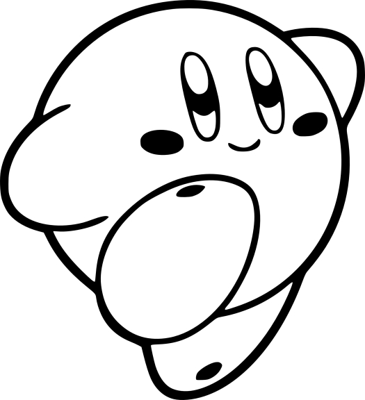 Coloriage Kirby