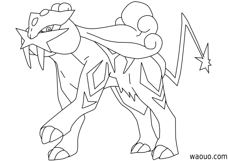raikou coloring pages - photo#15