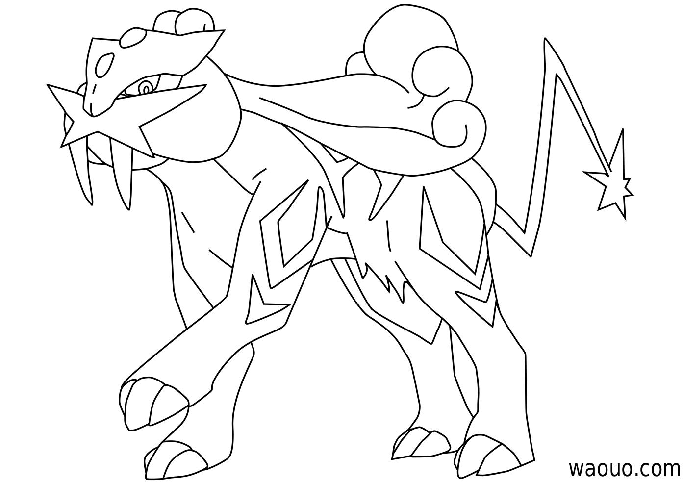 Raikou Coloriage Raikou Pokemon A Imprimer Et Colorier