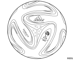 Coloriage ballon Coupe du monde 2014