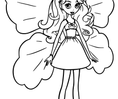 Coloriage Barbie Lilipucia