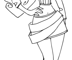 Coloriage Clawdeen Wolf