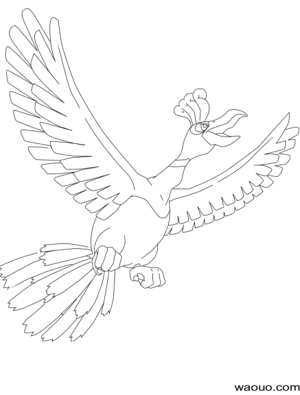 Coloriage Ho-Oh