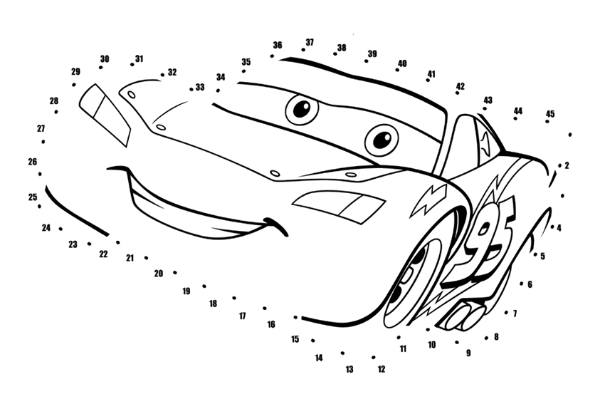 Cars 2 Connect The Dot Printables | Search Results | Calendar 2015