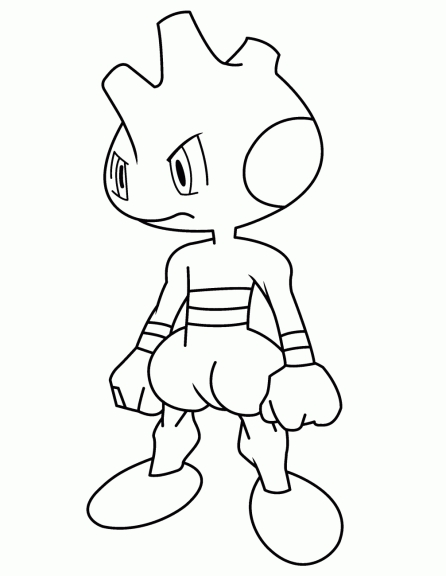 Coloriage Debugant Pokemon