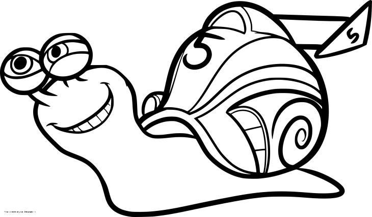 Coloriage Turbo l'escargot