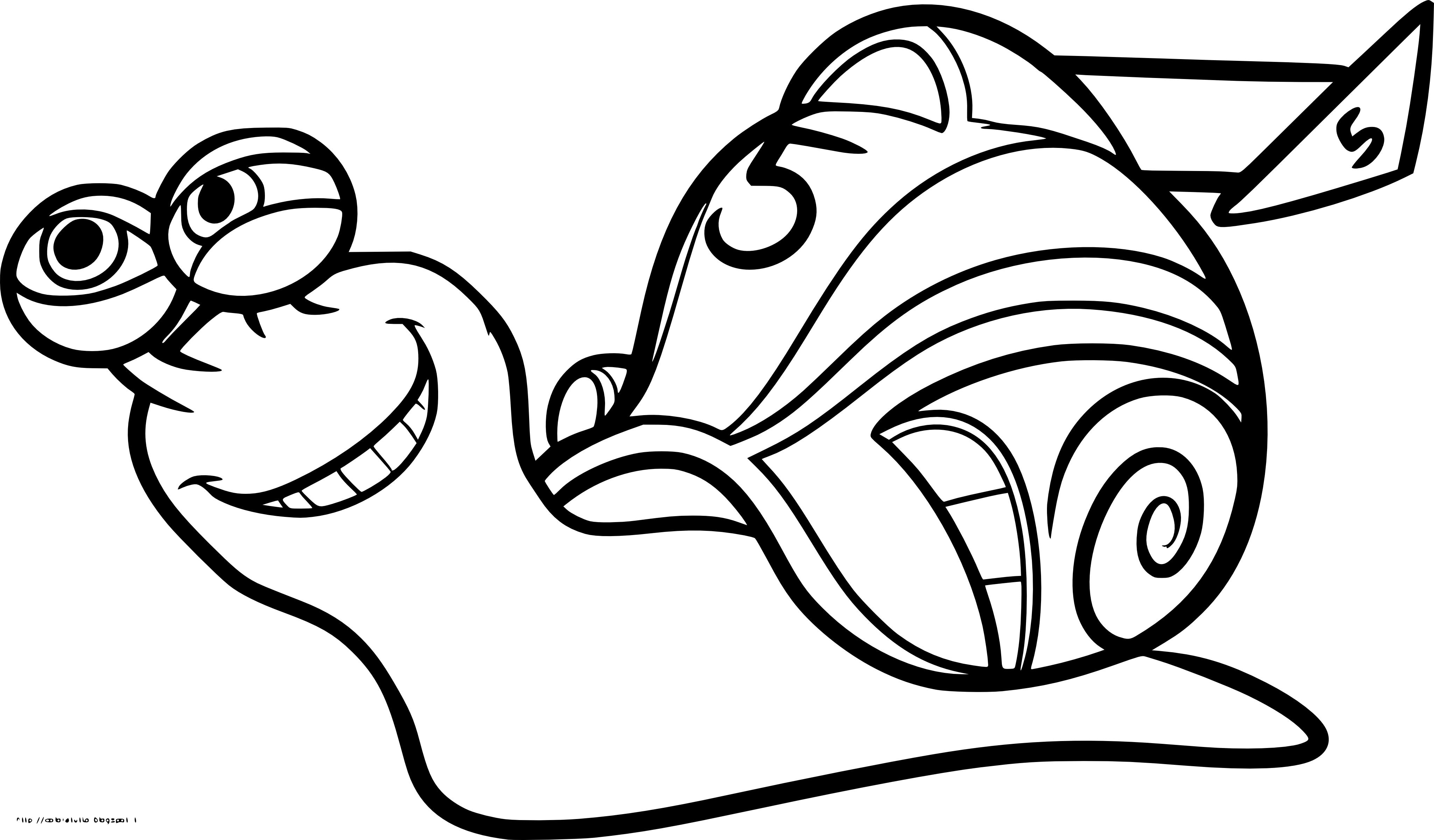 Coloriage Turbo l'escargot à imprimer et colorier
