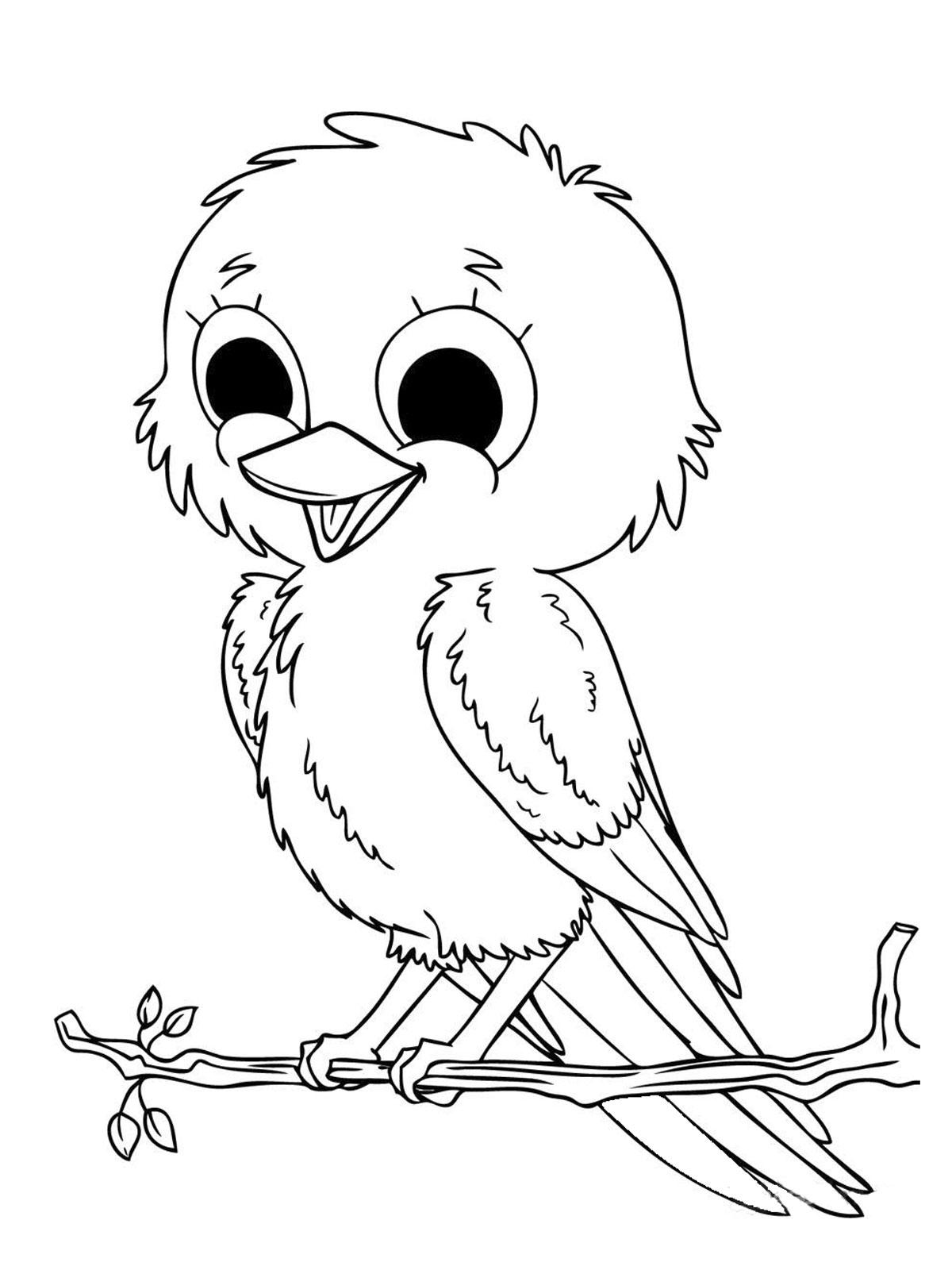 Frais Dessin A Imprimer Bebe Oiseaux