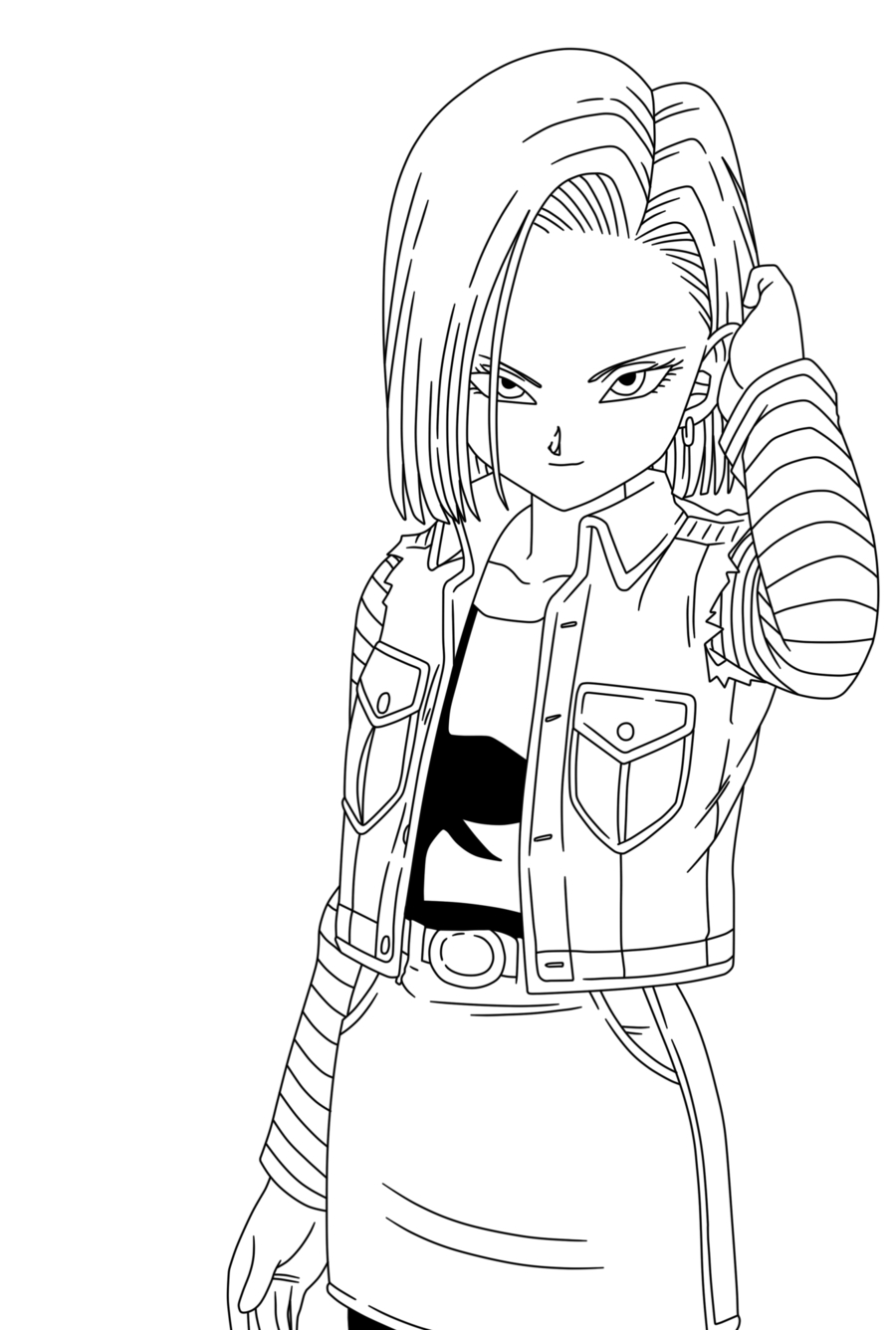 Coloriage c18 dragon ball z imprimer et colorier - Dessin de dragon ball ...