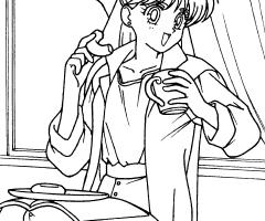 Coloriage Minako Sailor V