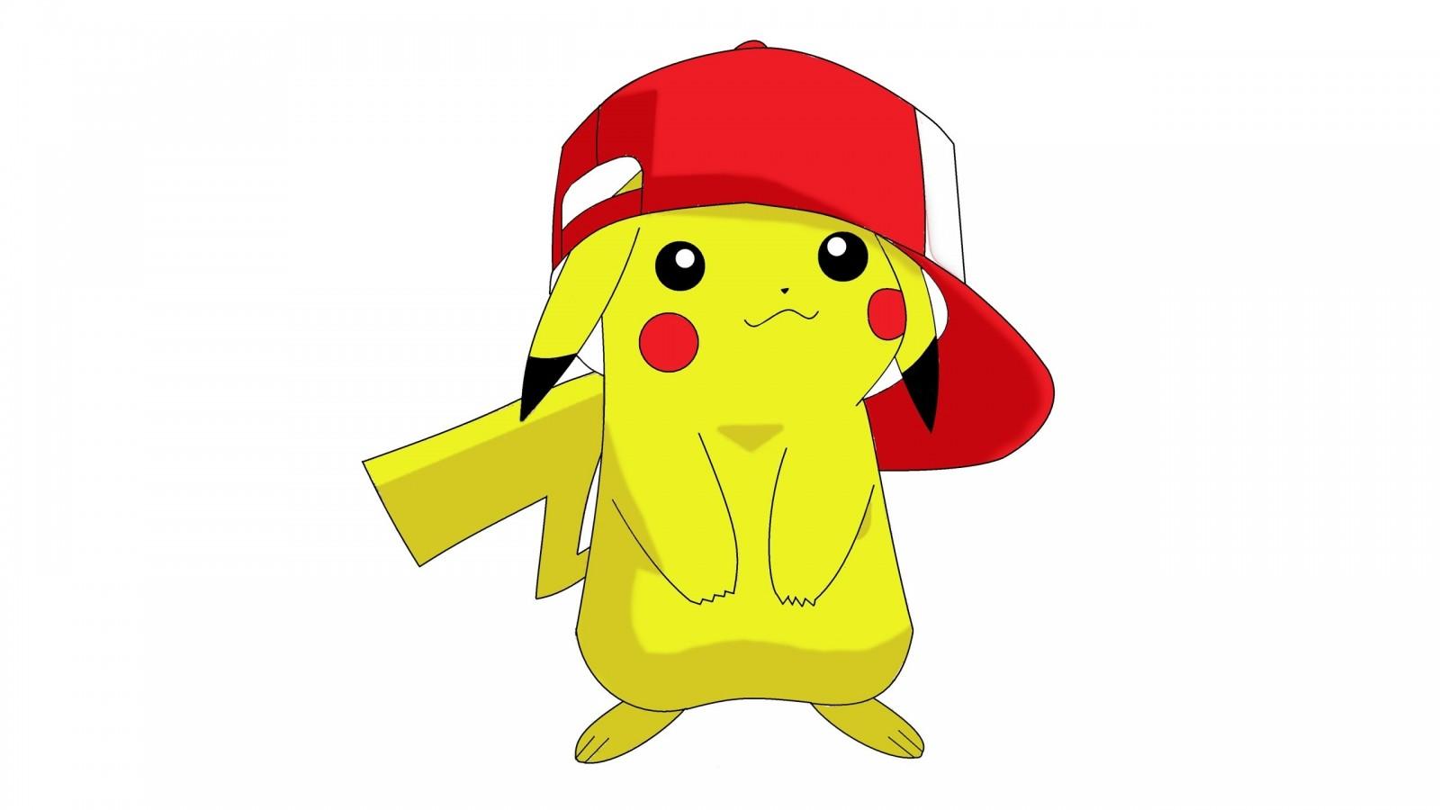Coloriage Pikachu Avec Une Casquette De Baseball