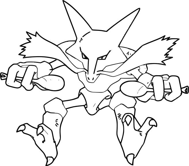 Pokemon Alakazam Coloring Pages Images Pokemon Images
