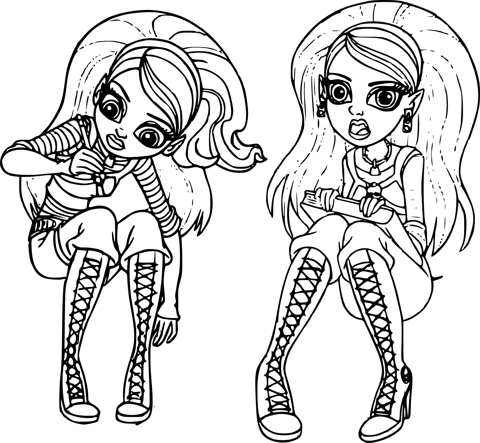 Coloriage monster high ghoulia imprimer - Coloriage de monster ...