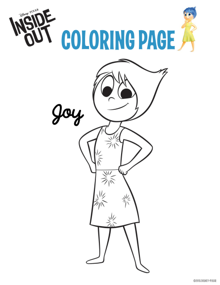 Coloriage joie Vice-versa