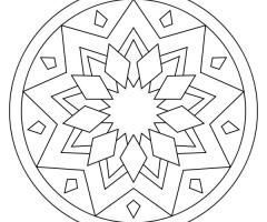 Coloriage Mandala facile