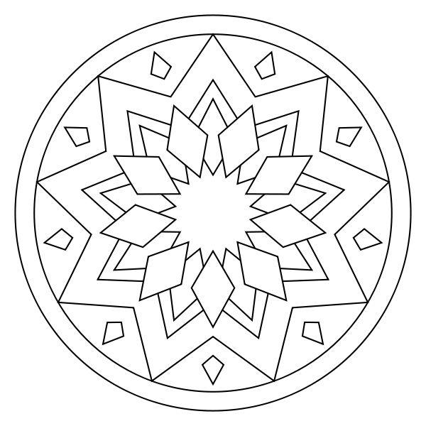 Coloriage Mandala Facile à Imprimer