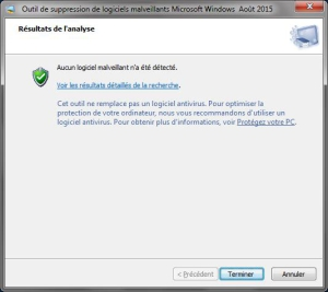 Fin d'analyse malwares
