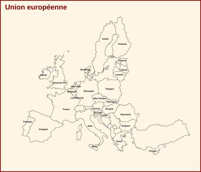 Carte d'Europe pays