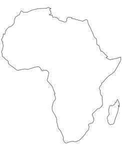 Carte Afrique imprimer
