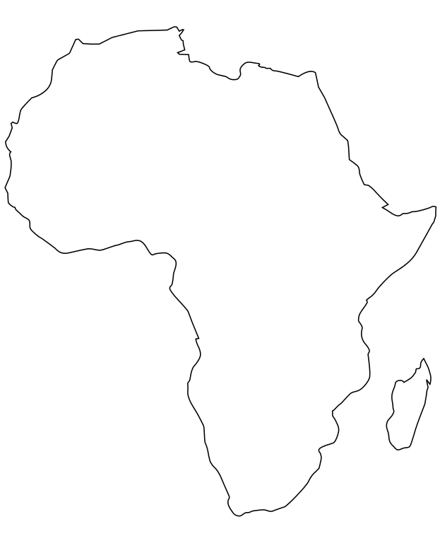 Carte De Lafrique Vierge A Imprimer.Carte D Afrique A Imprimer Et Completer